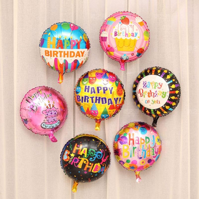 Nouveauté 18 pouces joyeux anniversaire ballons en aluminium, décoration d'anniversaire colorée enfants jouets 150 pcs/lot en gros-in Ballons et accessoires from Maison & Animalerie    2