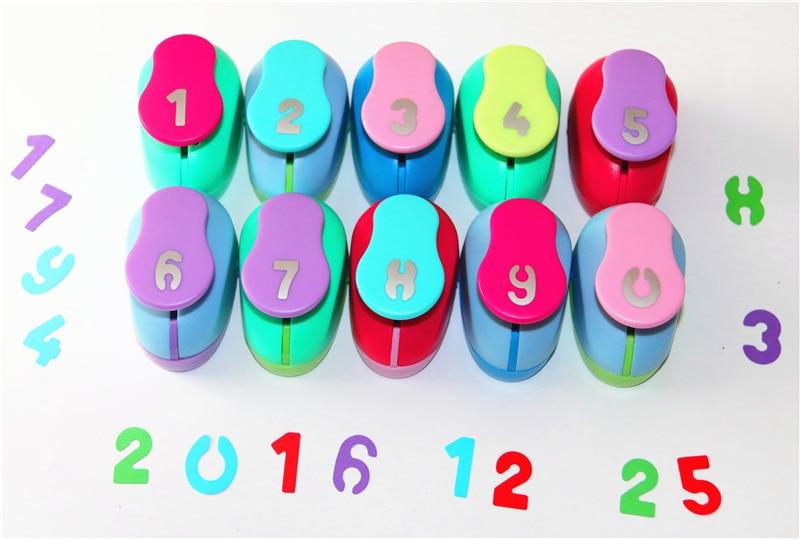 1 Inch Arabic Numerals Design Eva Foam Punch Paper Punches Scrapbooking Cutter Hole Punch  For DIY Artwork