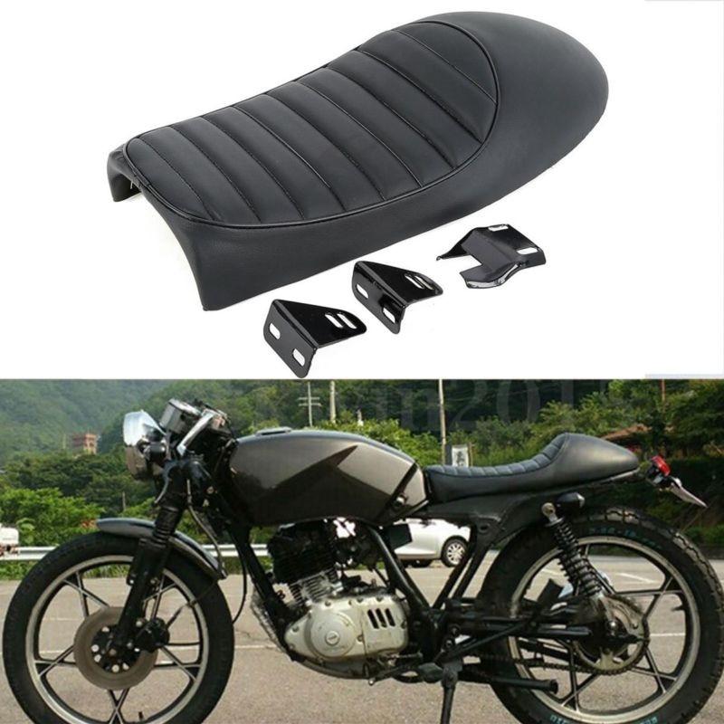Universal Black Hump Cafe Racer Seat Saddle For Honda Suzuki Yamaha SR400 XS650 GS XJ CB Motorcycle