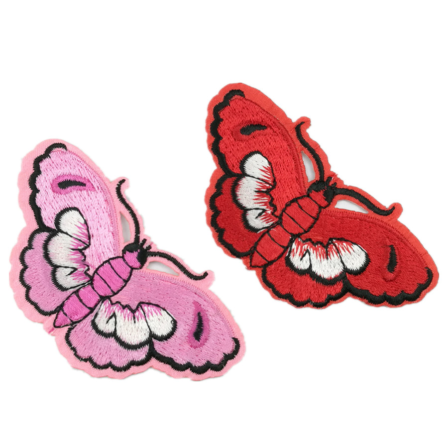 Patch choose shape Embroidered Butterfly  Iron//Sew On Applique