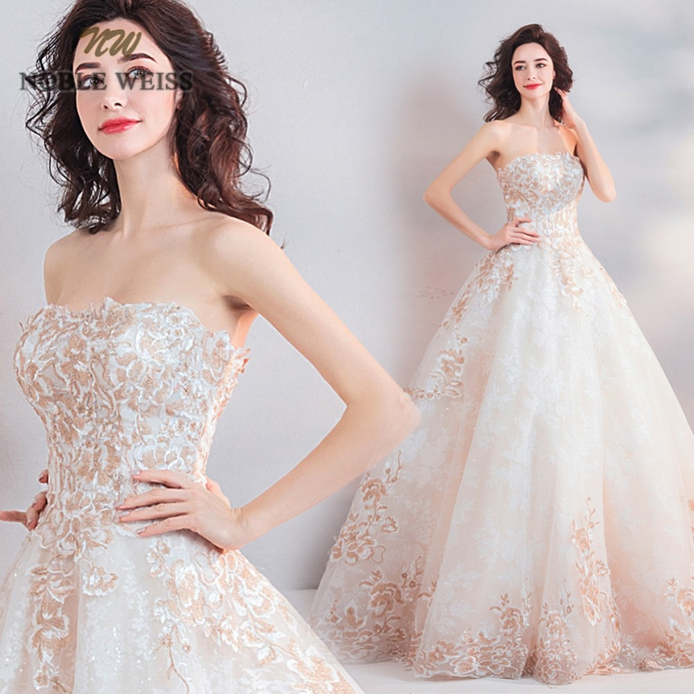 ball gown wedding dresses sweetheart appliques floor length lace bridal gown bare back vestido casamento