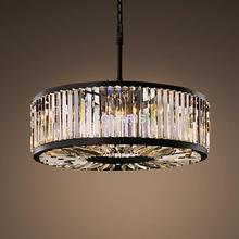 Modern Vintage Crystal Chandelier Lighting Pendant Hanging Light Ceiling Mounted Chandeliers Lamp for Home Hotel Villa Decor