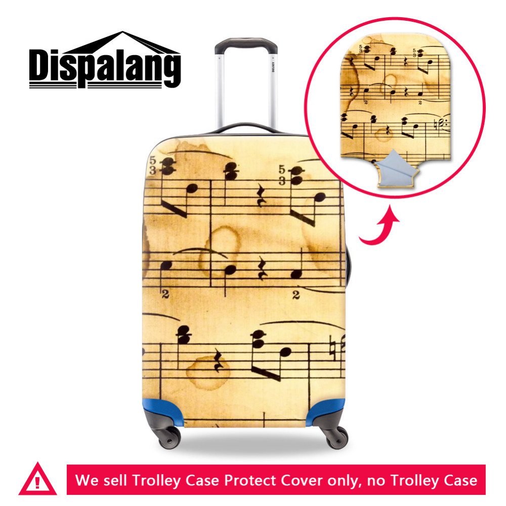 Elastic Waterproof Luggage Protect Cover For 18-30 Inch Trolley Case Stave Art Style Suitcase Dust Rain Cover Travel Accessories