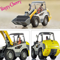Happy Cherry Scale1:50  Alloy Radlader Diecast Cement Mixer Truck Construction Vehicle Pull Back Action Car Model Toys