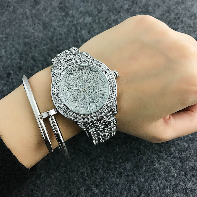Reloj Mujer CONTENA Top Shiny Diamond Watch Luxury Rhinestone Bracelet Watch Women Watches Full Steel Women's Watches Clock Saat