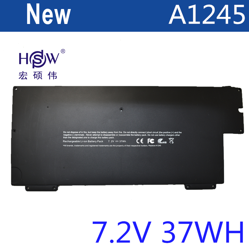 HSW Laptop Battery For apple A1245 for MacBook Air 13 A1237 A1304 Z0FS MB003 MC233*/A MB003TA/A 37WH 7.2V bateria akku компьютерные аксессуары for apple macbook air 10 apple macbook air a1237 a1304 mb003 mc233 mc234 2008 2009