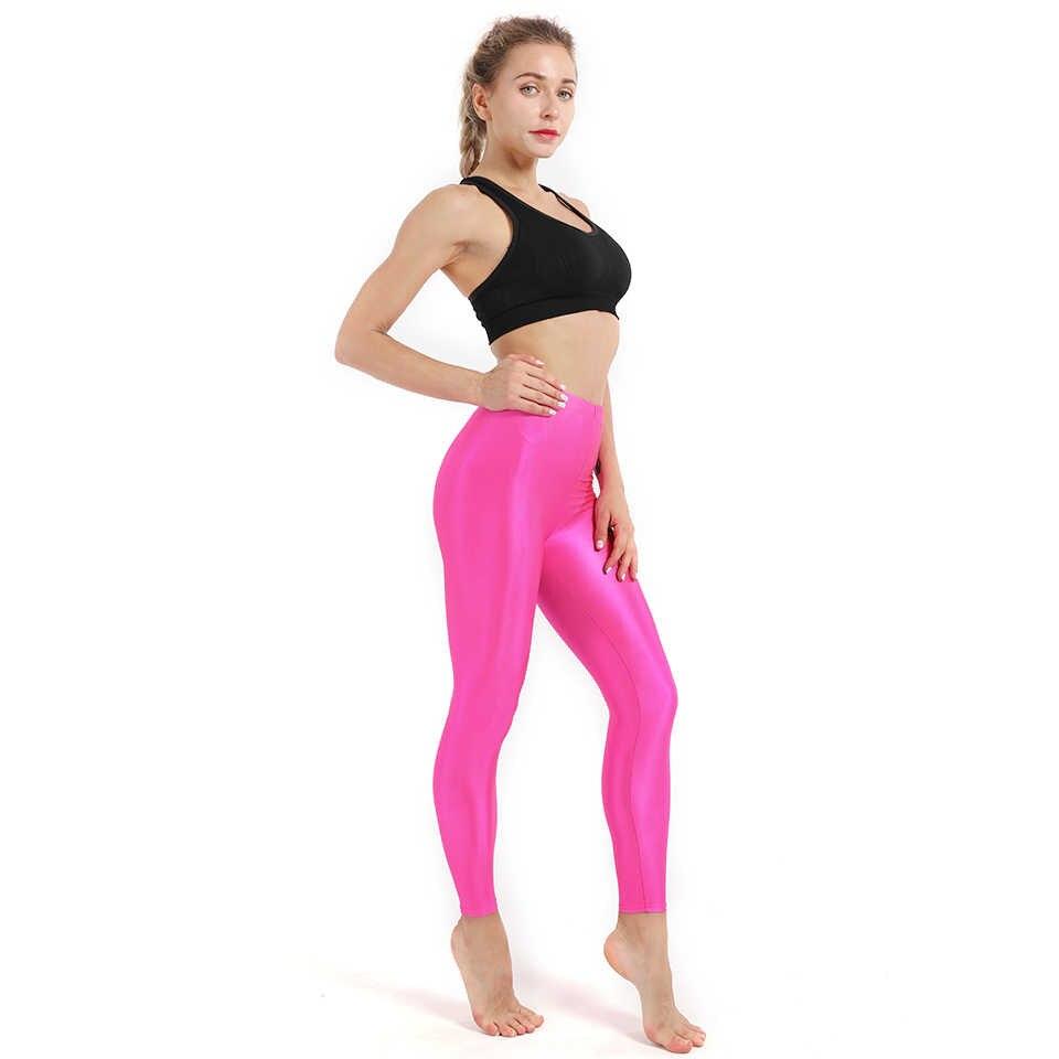 0550e653f62 ... Candy colors Women Fitness Push UP Leggings Plus Size Fluorescent  Legging Ladies Shiny Leggins High Waist ...