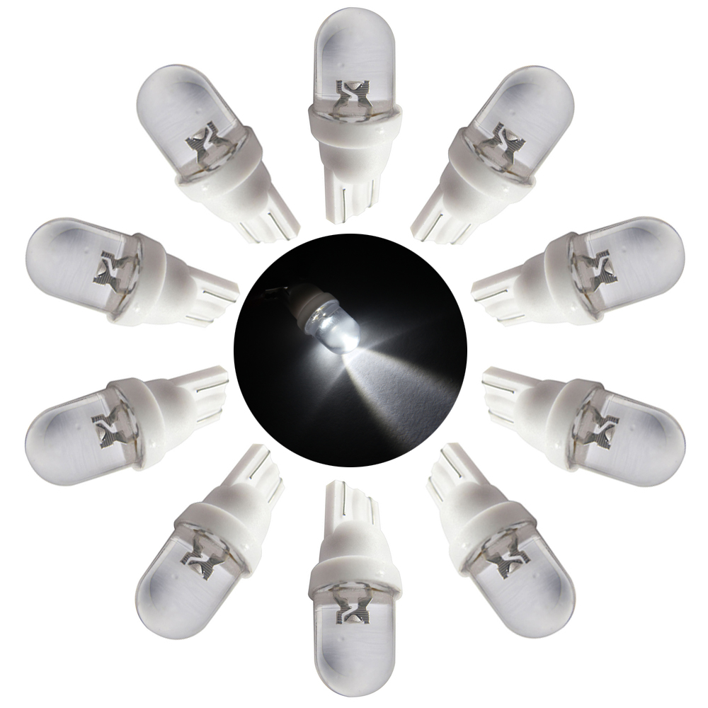 20 X Non Ghosting anti flickering #555 W5W T10 194 168 AC DC <font><b>6V</b></font>/6.3V <font><b>1w</b></font> Clear <font><b>LED</b></font> Pinball Light Lamp