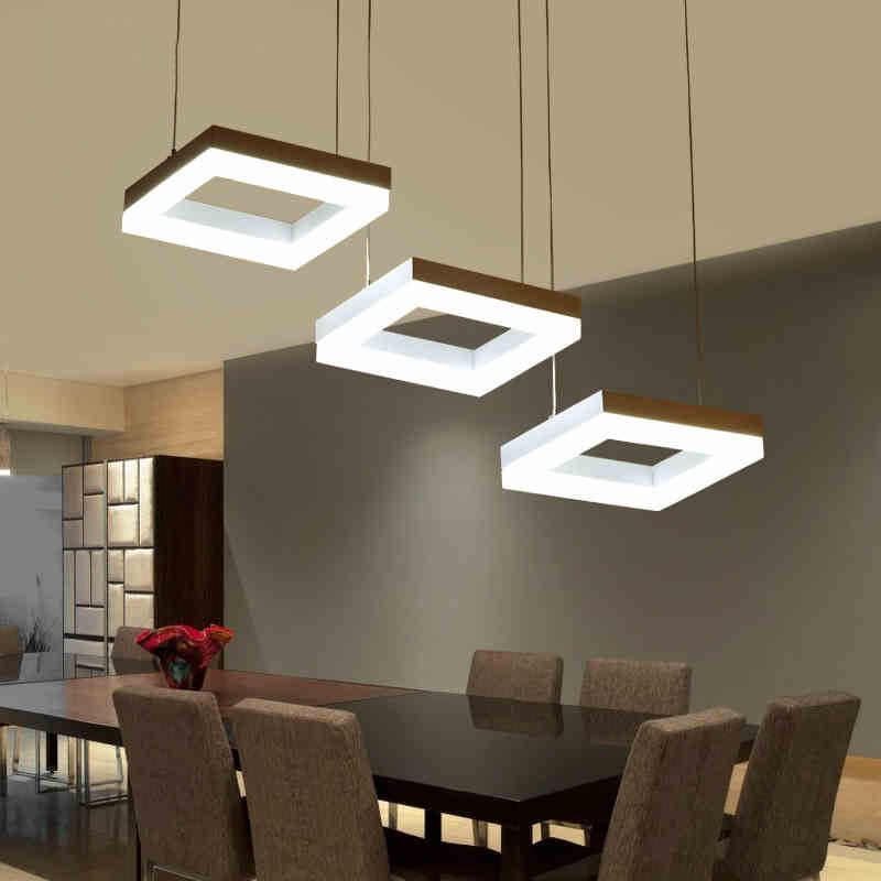 White Modern LED Pendant Lights For Dining Room Acrylic Pendant Lamp Hanging Decoration Lighting fixtures suspension luminaire modern led pendant lights for dining living room hanging circel rings acrylic suspension luminaire pendant lamp lighting lampen