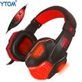 YTOM P780 luz LED Gaming Headset Auriculares auriculares Auriculares para Juegos de PC USB + Cable de Audio de 3.5mm auricular Con un micrófono