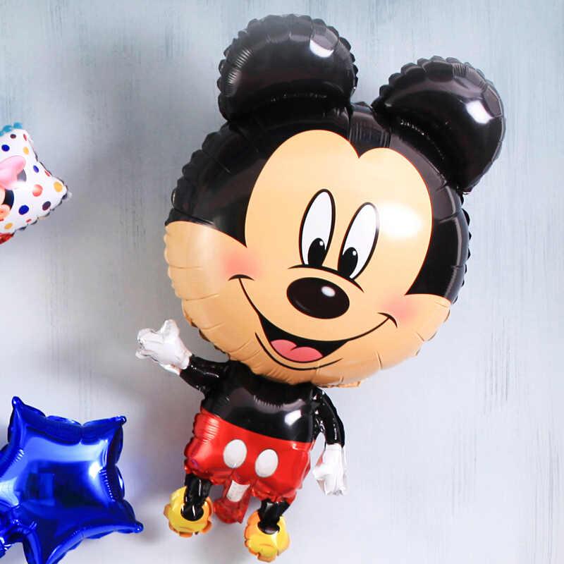 1 Pcs Dude Balon Kartun Topi Hewan Gambar Kartun Nomor Balon Foil Topi Pesta Digit Balon Udara Pesta Ulang Tahun Anak-anak Mainan