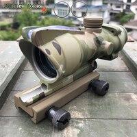 Trijicon ACOG 1x32 Optical Rifle Scopes Spotting red dot M416 Reticle With 20MM Mounts riflescope hunting optics sight real fibe