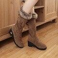 2015 новых прибытия стиль 4 цвета большой размер 34-43 зимние сапоги круглая голова клинья снегоступы для женщин обувь Z1LY-s918
