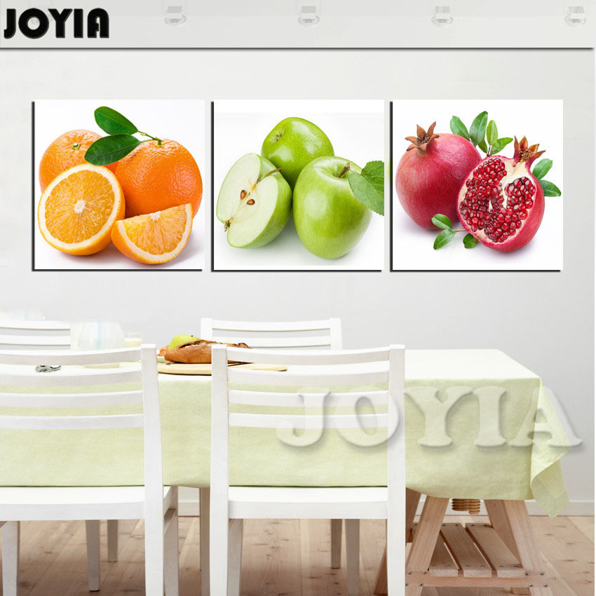 Great 3 Piece Fruit Paintings Kitchen Dinning Decor Wall Pictures Apple Orange  Pomegranate Modern Fruits Canvas Print Art No Frame In Painting U0026  Calligraphy From ...