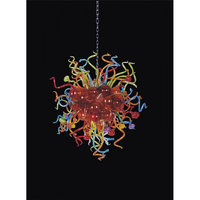 Longree Beautiful Modern Colorful Flower Chandeliers Hand Blown Chihuly Style Murano Glass chandelier China chandelier