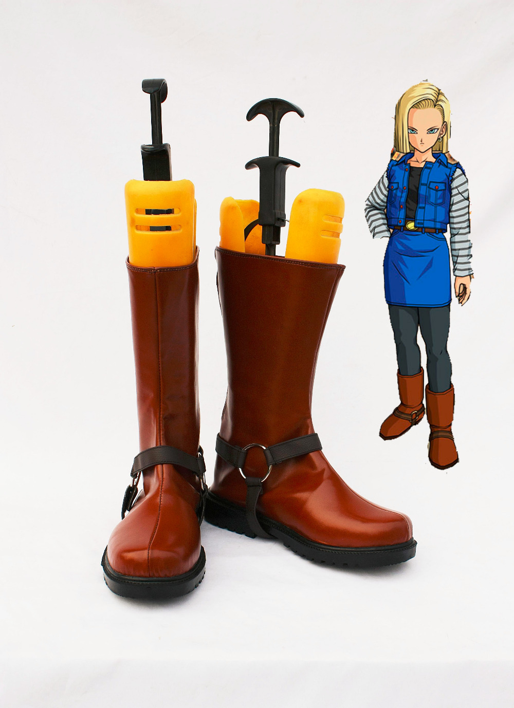Custom made Android 18 Shoes boot from Dragon Ball Cosplay