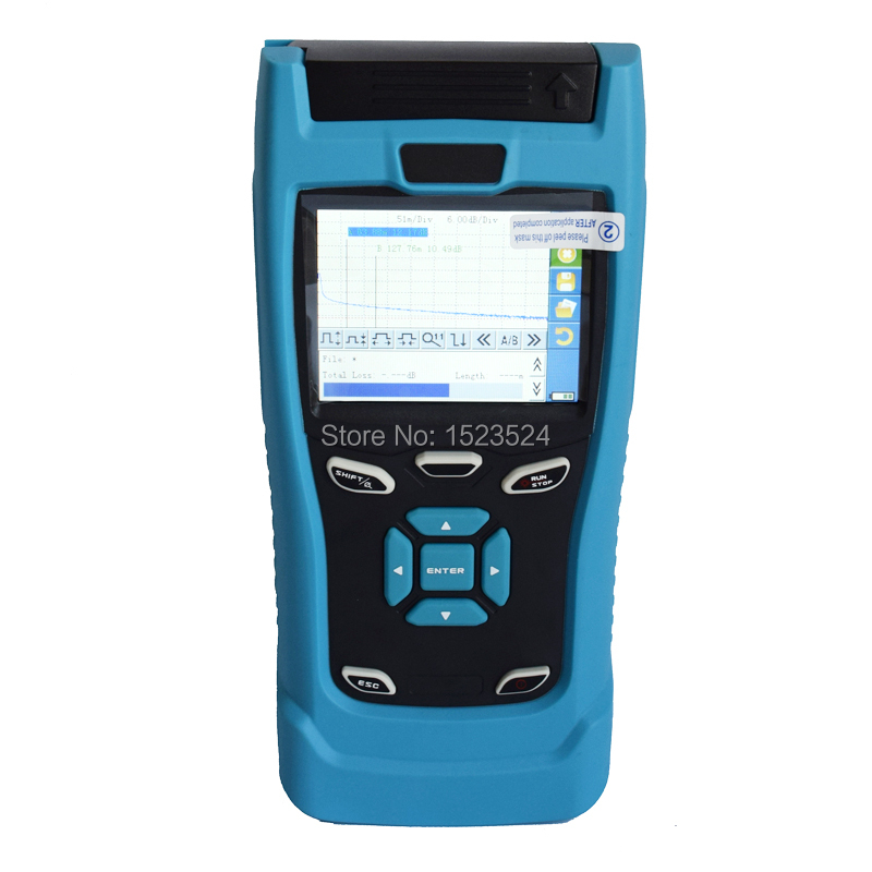 30/28dB SM 1310/1550nm Mini OTDR Optical Time Domain Reflectometer Fiber Optic OTDR with Touch Screen
