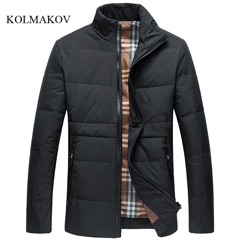 2017 new arrival winter style men boutique down coats business casual stand collar coat mens solid zippers overcoat size L-4XL