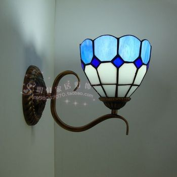 Special offer Tiffany lamp bedroom wall lamp corridor lamp mirror bathroom light Mediterranean style iron lamp