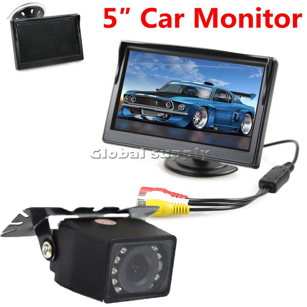 5 Inch Rear View Car Monitor + IR Night Vision Car Camera
