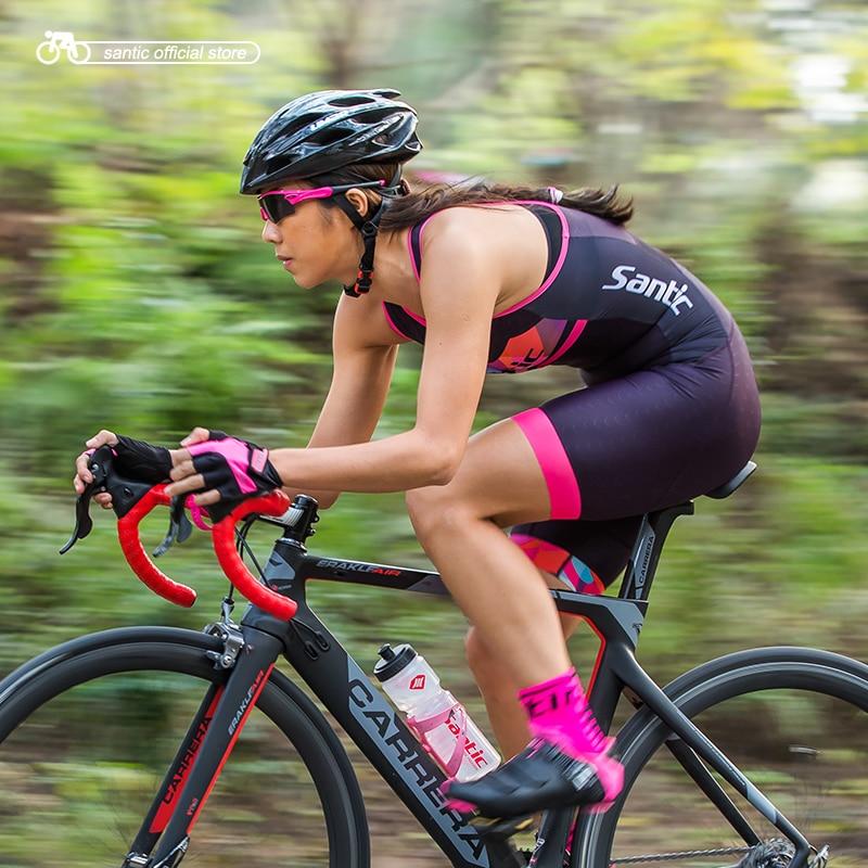 Сантич женщин Велоспорт без рукавов девушки три костюм костюм для выполнения циклов плавать Профи Fit эластичной L7C03011