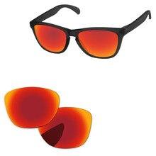 00f1633cee2cb Rojo fuego espejo polarizadas lentes para Frogskins LX gafas de sol marco  100% UVA y UVB protección