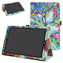 Folding Standing PU Leather case For 10.0″ NuVision Solo 10 Draw TM101W610L Windows 10 Tablet Litchi Pattern Cover