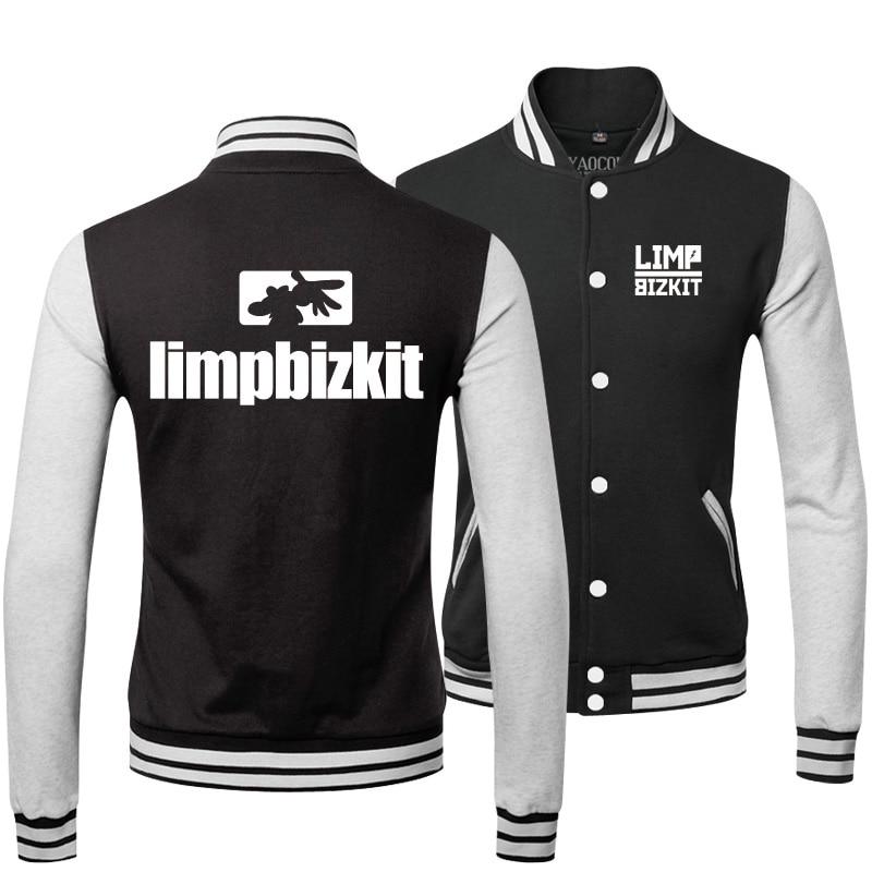 New 2017 Fashion Tracksuit Sportswear Top Brand Limp Bizkit Rock Band Sweatshirts Mens Baseball Bomber Jackets and Coats Winter