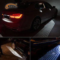 OKEEN New Universal Car Angel Wings lights LED Colorful RGB Welcome Car Door Projector Light Projector Lamp White For Auto Moto