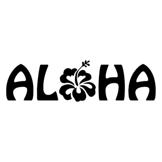 Hotmeini aloha hibiscus hawaii car window decal car sticker truck bumper boat laptop vinyl decal