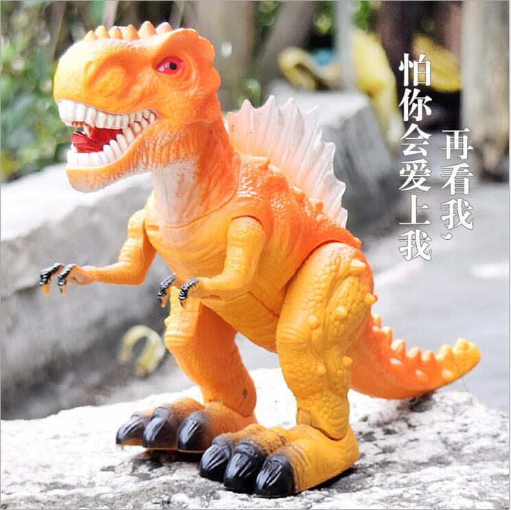 Children's Electric Toy Dinosaur Simulation Dinosaur Action Figure Tyrannosaurus Rex Animal Model Furnishing Articles 26CM*51CM jurassic monster action tyrannosaurus rex can use electric to lay an egg with light simulation model children s toy