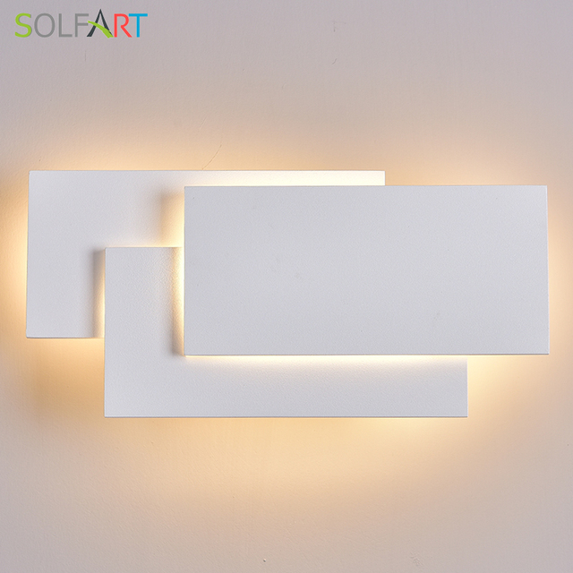Klaffs Wall Sconces : LED Wall Lamps Wall Mounted Sconces Modern Wall Sconce Lustre Aluminum Painted White Black Wall ...