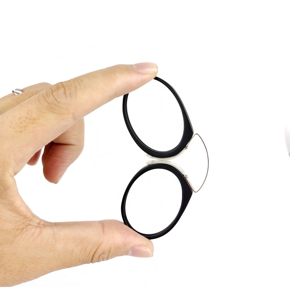 Pince-Nez Plast Titan Full Frame Läsglasögon TR90 Portable Nose Men - Kläder tillbehör - Foto 4