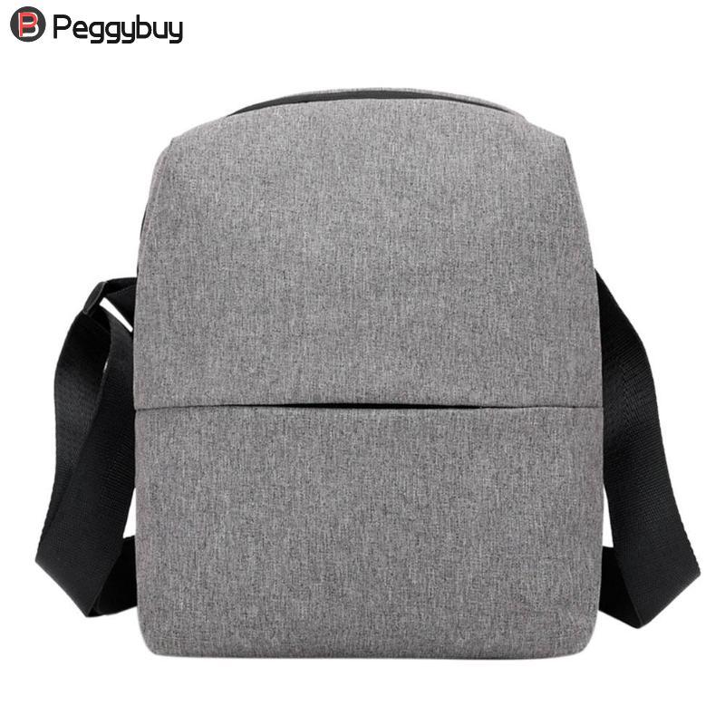 Mens Waterproof Nylon Shoulder Handbags ZipperTravel Small Messenger Bag Teenage Mini Crossbody Bag Business Casual Briefcase