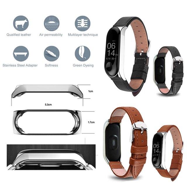 Bracelet for Xiaomi Mi Band 6 5 4 leather Strap Replacement Wristband MiBand 6 4 band5 Wrist Strap for xiaomi Mi Band 4 3 strap 3