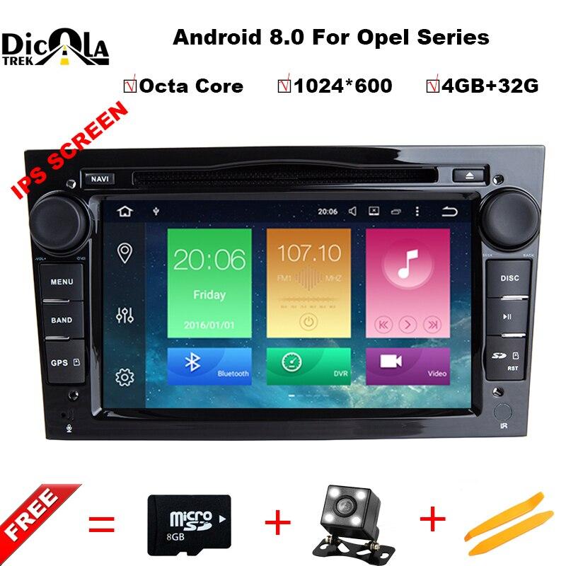 4g + 32g Octa Core Android 8.0 per OPEL Astra H Meriva Antara Zafira Veda Agila Corsa Vectra car dvd di navigazione gps di Sostegno DAB +