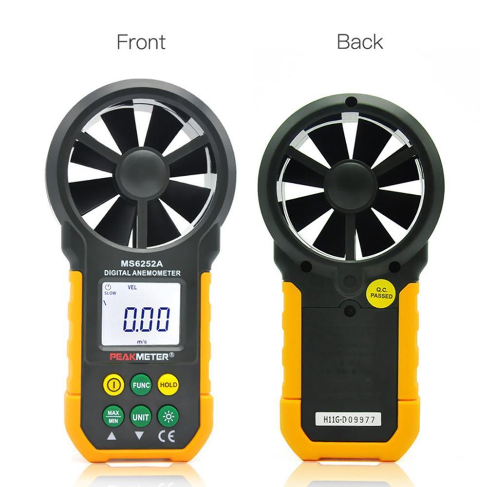 Aletler'ten Hız Ölçme Cihazları'de PEAKMETER Dijital Anemometre Ölçer Rüzgar Hızı Test Rüzgar Akış Test MIN/MAX 6252A