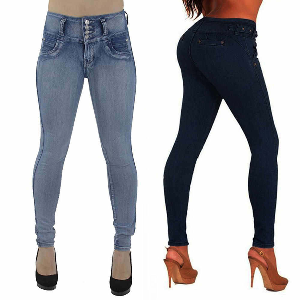 Jeans woman High Waisted Skinny Denim ladies Jeans soft comfortable Stretch Slim Pants Calf Length boyfriend jeans for women