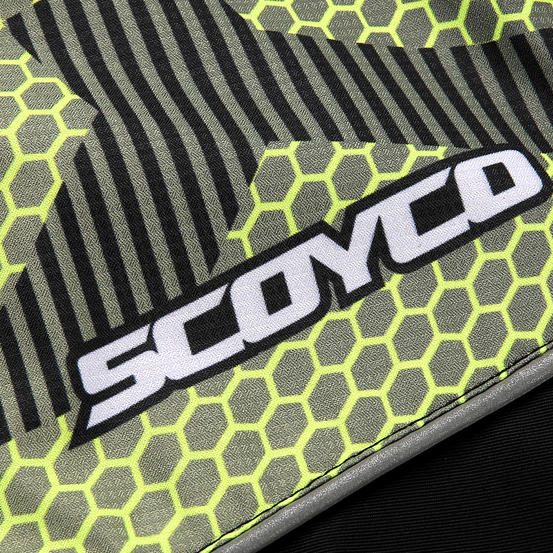 SCOYCO Protective Jacket,Leisure Hooded Windproof Breathable Waterproof with Replaceable Protector GREEN,L