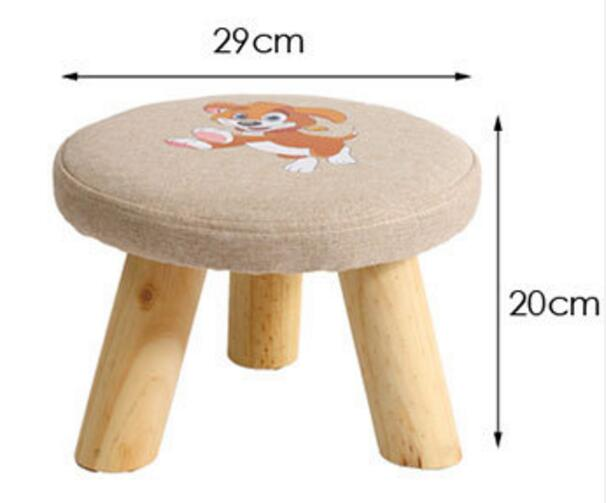 Tabouret en bois massif enfants chaussures tabouret dessin animé canapé tabouret moderne champignon tabouret