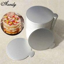 Aomily 100 шт./компл. круглый торт серебряный Бумага торт Панели десерт показывает поднос на день рождения с изображением торта, свадебных платьев, декоративных изделий комплект