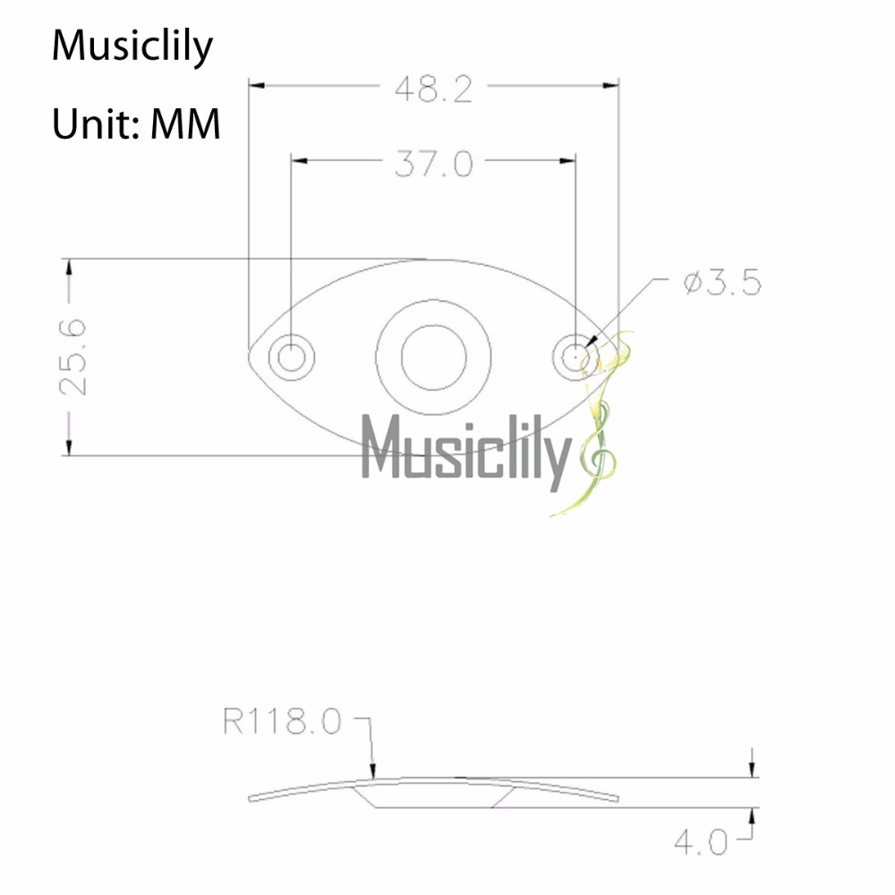 Nmusiclily Multiple Color Metal Oval Dented Output Jack Plates For Renault Clio Fuse Box Layout Diagram Package Included 2pcs M770 Size