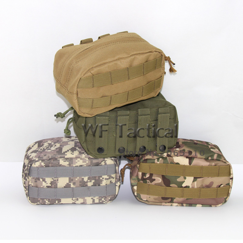 Large Size Horizontal Molle Pouch Waist Pack Tactical Emergency Survival Pockets Outdoor Double Zipper Camping Tool Pouch