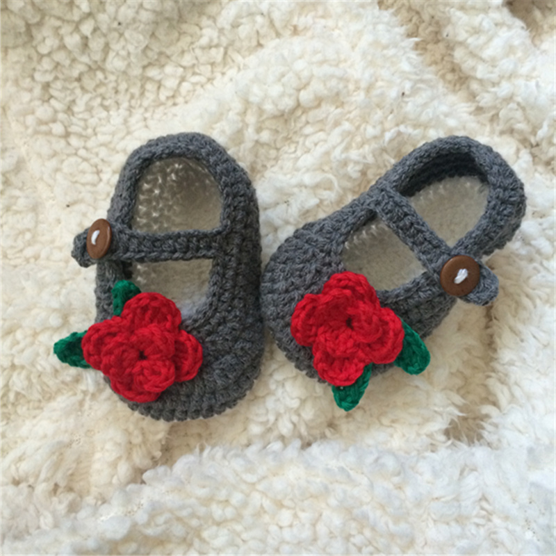 QYFLYXUEQYFLYXUE  Summer Baby Hand Woven Sandals Baby White Plum Crochet Toddler Shoes Newborn Cotton Yarn Shoes