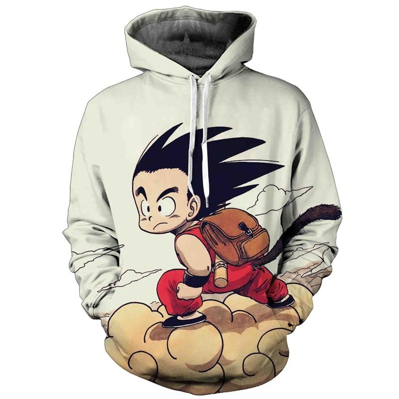 Anime 3D Sweatshirt Hoodies Men Women Dragon Ball Z Son Goku Hooded Sweatshirt Male Pullover Hip Hop Pocket Mens Sweat Homme