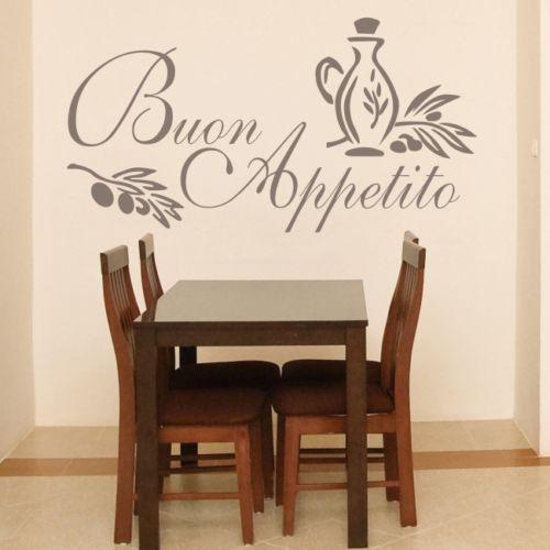 Aliexpress.com : Buy B1 BUON APPETITO wall art sticker italian quote ...