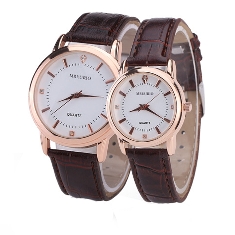 Elegant Lovers Watches Simple Roman Numerals Leather Strap Couple Wrist Watch Waterproof Gifts For Lovers Men Women Dress Clock