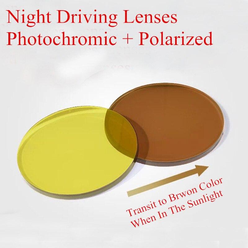 1.49 Index Night Driving Lenses Polarized Photochromic Lenses Prescription Sunglasses Lenses Fishing Skiing Lenses