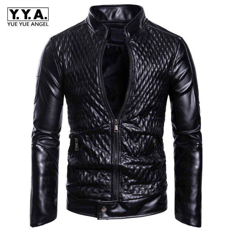 Mens Spring Autumn Jacket New Black PU Leather Jacket Men Red PU Leather Mens Jacket Men Coat Ropa De Hombre Windbreaker 3XL