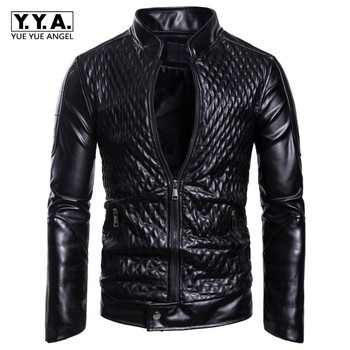Mens Spring Autumn Jacket New Black PU Leather Jacket Men Red PU Leather Mens Jacket Men Coat Ropa De Hombre Windbreaker 3XL